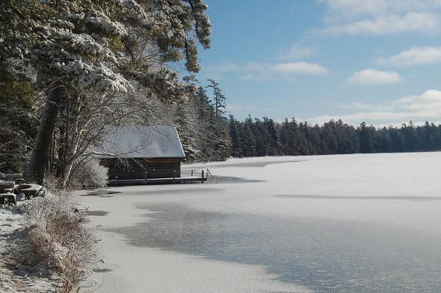Adirondack boat house