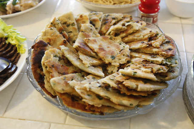 homemade scallion pancakes