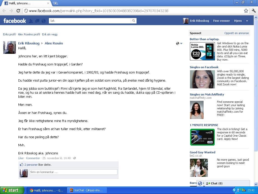 facebook vegg alex rosen