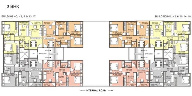 Dwarka-Chakan-2BHK Flat-Floor-Paln