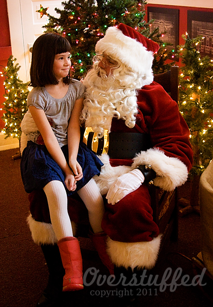 Chloe and Santa