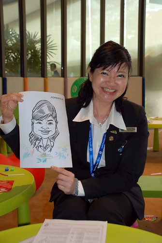 caricature live sketching for Foresque Residences Roadshow - Day 2 - 7