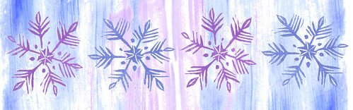 Hand Carved Stamp Snowflakes, Collage elements 20 with background
