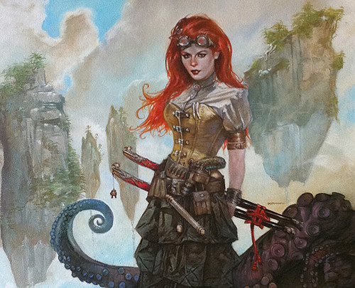 Steampunk Redheaded Girl by Dave Dorman