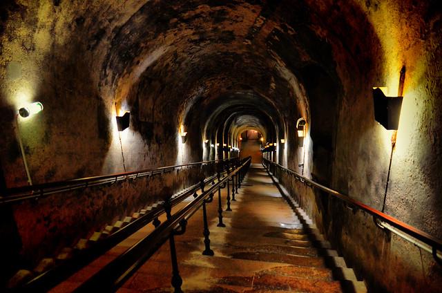 Reims : l'accès aux caves Pommery