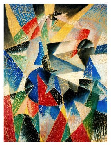 011-Ritmo de una bailarina en azul 1913-Gino Severini