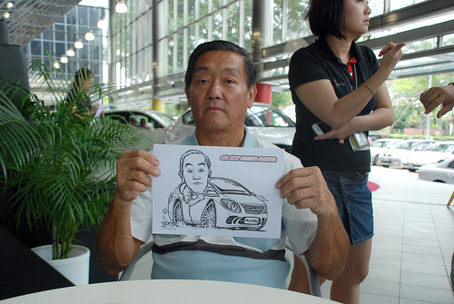 Caricature live sketching for Tan Chong Nissan Almera Soft Launch - Day 1 - 22
