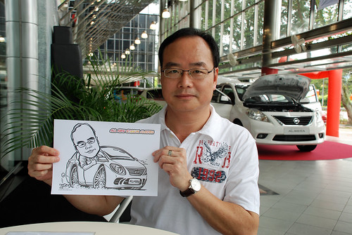 Caricature live sketching for Tan Chong Nissan Almera Soft Launch - Day 2 - 17