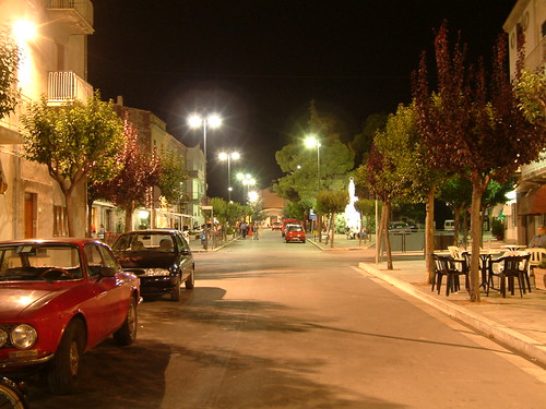 Gissi, Corso Vittorio Emanuele II by Night