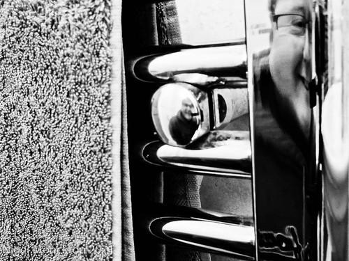 1000/694: 06 Jan 2012: Self Portrait in a Towel Rail by nmonckton