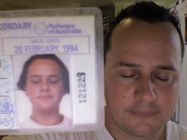 Take a photo of someone holding a photograph of themselves - Me 1993 & 2012