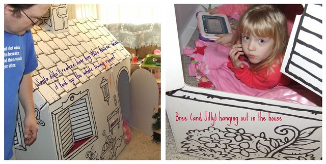 cardboard house collage