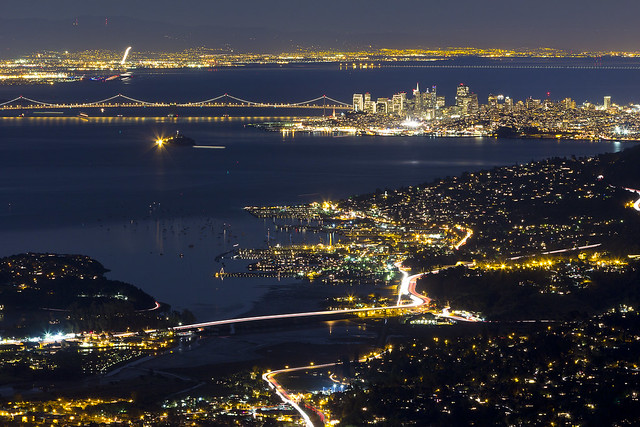 The Bay Area at Night