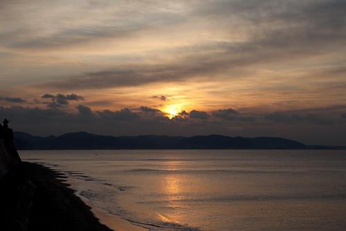 sea sky cloud japan sunrise canon eos kamakura ef2470mmf28lusm shonan 2012 eos5dmarkii