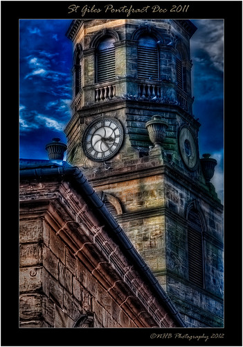 sky tower clock nature clouds buildings churches pontefract stgiles marketsquare buttercross canonefs1785mmf456isusm canon40d nhbphotography