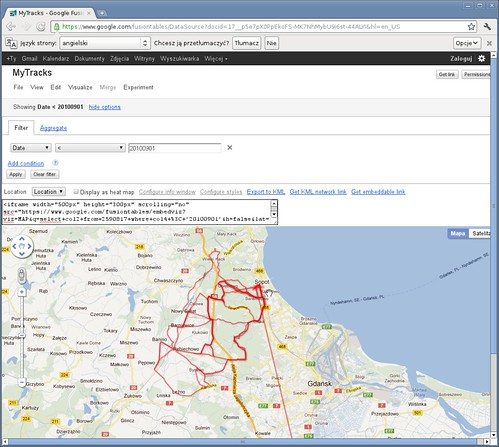 Google Fusion Table map view in Chrome