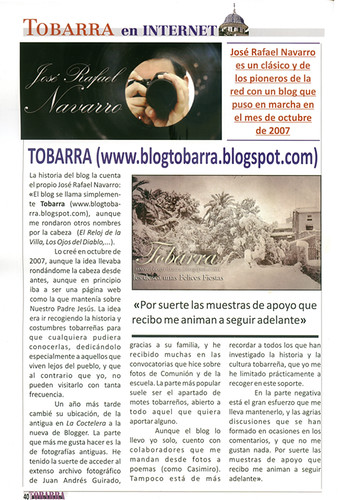 """Tobarra"" en la revista ""30 Dias en Tobarra"""