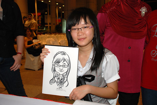 caricature live sketching for kidsREAD Volunteer Appreciation Day 2011 - 17