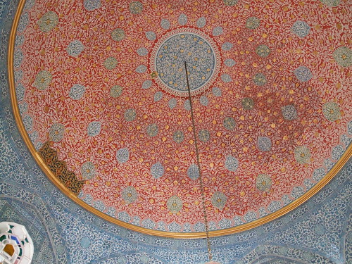 And another ceiling in the Topkapi Palace Museum