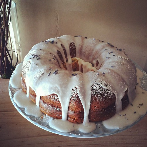 Lavender lemon bundt cake