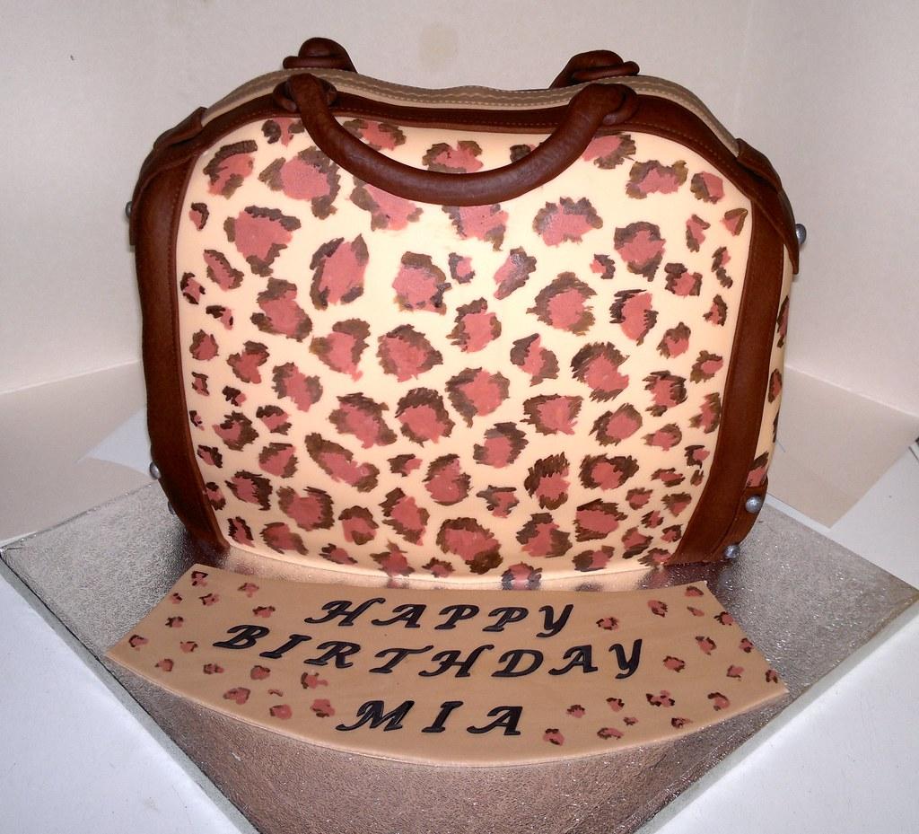 Leopard Handbag Cake