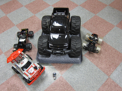 Turning a 27 MHz or 49 MHz RC Car into a arduino controlled robot