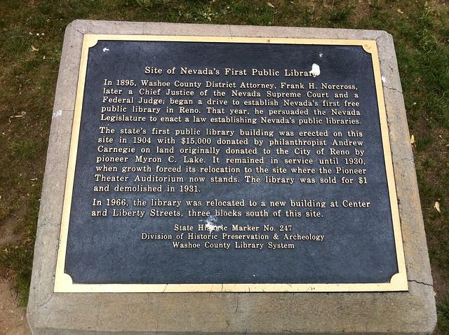 Nevada Historical Marker #247