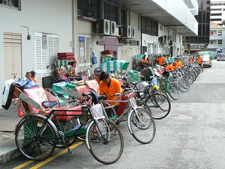 Bicycle taxi's (Singapore 2007)
