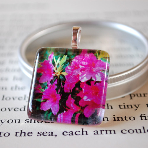 Happy Azaleas photo pendant