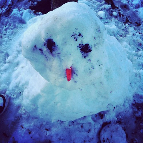 A BC snowmans life is sad and short.