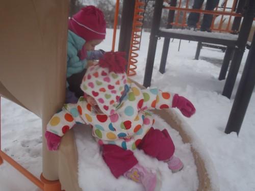 Girls having fun at the park!