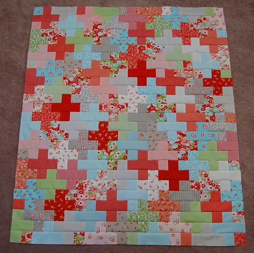 Ruby quilt top