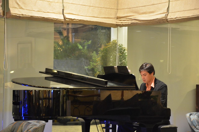 pianist at the Lobby Lounge Marco Polo Hotel Davao