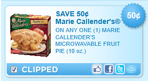Marie Callenders Microwavable Fruit Pie (10 Oz.) Coupon