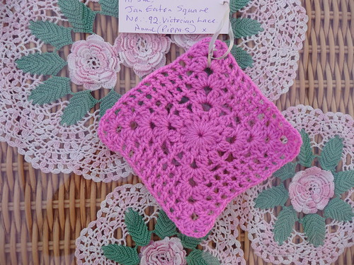 Square for our 'Jan Eaton' Challenge Block No. 92 'Victorian Lace'