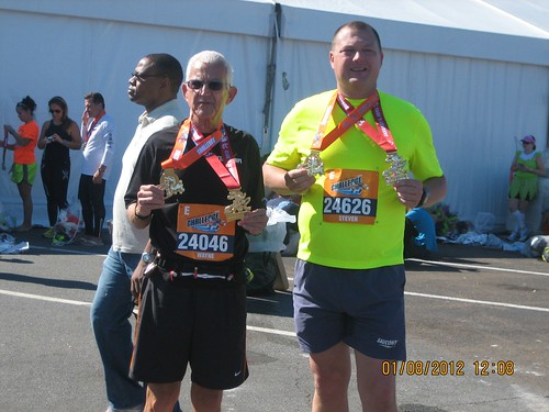 Steve and Wayne with medals