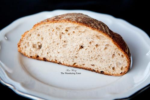 Crumb structure of the sourdough bread