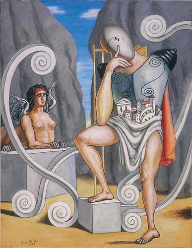 Giorgio de Chirico - Oedipus and the Sphinx by petrus.agricola