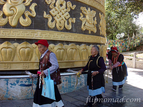 FlipNomad's Photo Thursday - Mani or Prayer Wheel in Shangri-La