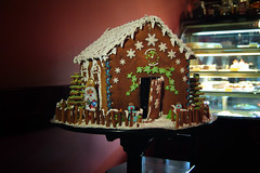 gingerbread house, christmas decoration, gingerbread, food,