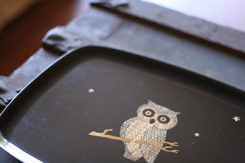 owl tray.