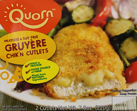 Quorn Meatless & Soy Free Gruyere Chik'n Cutlets Box