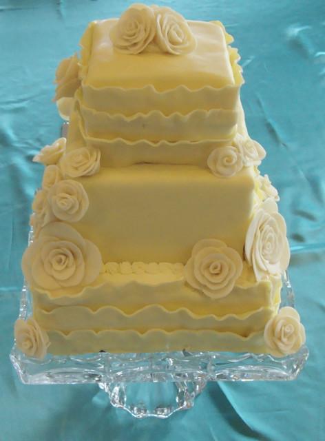 meyer lemon & white chocolate wedding cake | Flickr ...