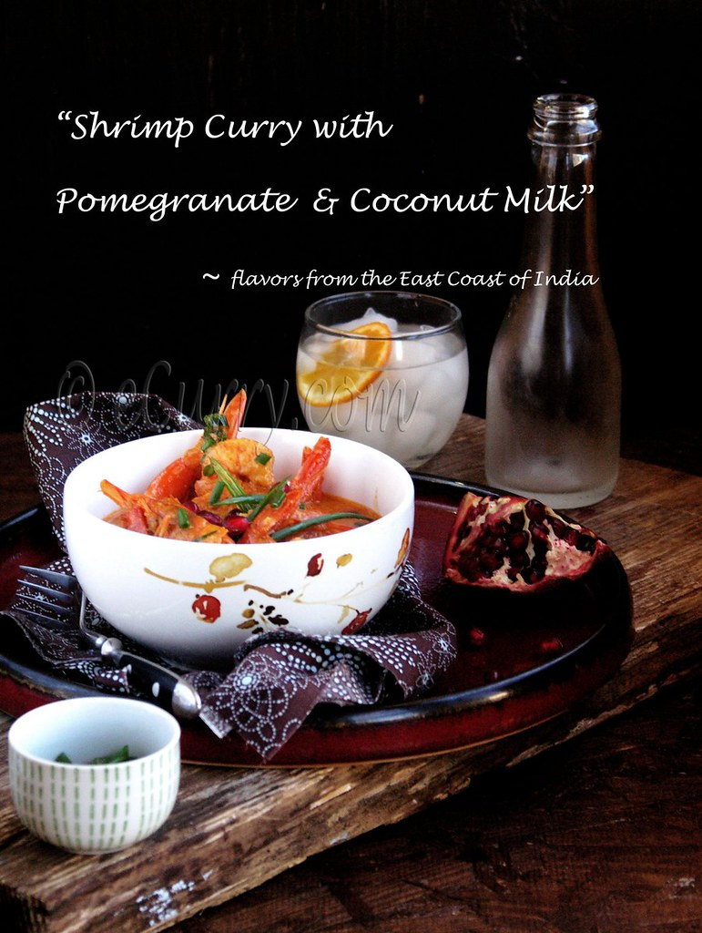 Shrimp with Pomegranate and Coconut Milk 2 with text