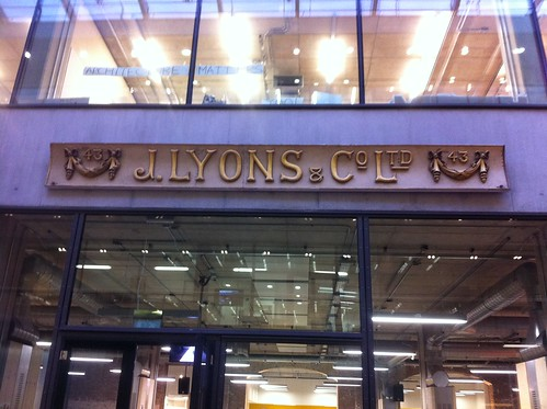 The famous LYONS sign