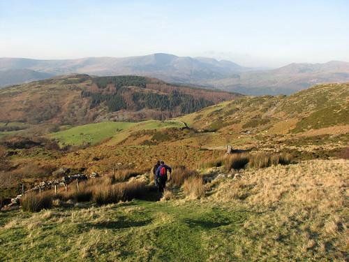 Descending from Llyn y Gafr