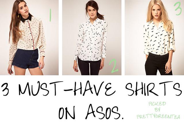 prettygreentea asos shirts