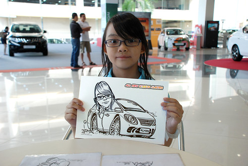Caricature live sketching for Tan Chong Nissan Motor Almera Soft Launch - Day 4 - 11