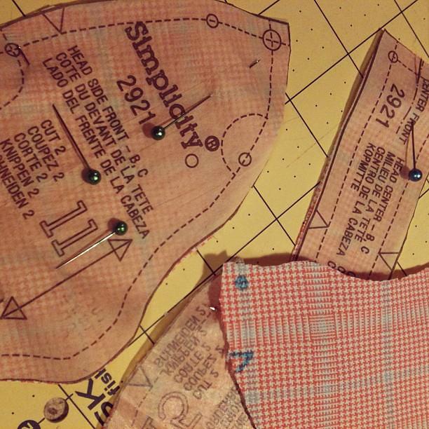 Jan 18. Sewing for Lauren.