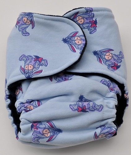 Bumstoppers small snapless  cotton velour Eeyore